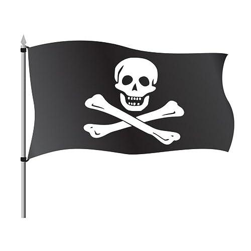 Hemore Bandera de Pirata 150×90cm para La Decoración del Lugar Parezca Más Juvenil de