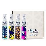 García de la Cruz - Aceite de Oliva Virgen Extra Pack 4x250ML Cornicabra Monovarietal Con Denominación de Origen Protegida, Montes de Toledo
