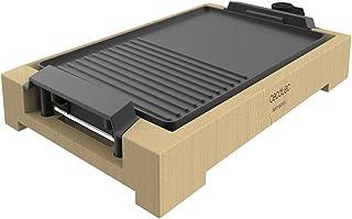 Cecotec Plancha électrique Tasty&Grill 2000 Bamboo Black. Puissance de 2000 W, Structure en bambou. Thermostat réglable, S...