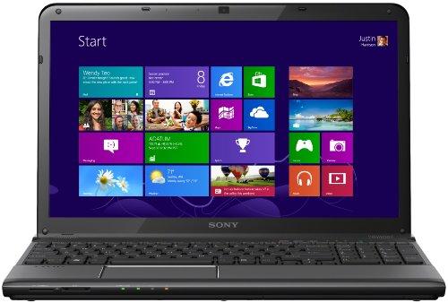 Sony SVE1512J6EB.CEK Vaio E Series 15.5-inch Laptop (Black) – (Intel Core i3 2370M 2.4GHz, 4GB RAM, 640GB HDD, Windows 8…