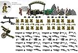 Magma Brick États-Unis d'Amérique Militaire Ensemble Armes dans Monde Guerre Compatible avec Lego.