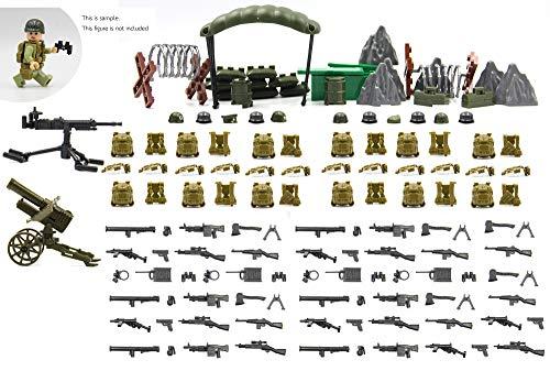 Conjunto de armas militares de los Estados Unidos de América en la guerra mundial Compatible con Lego.