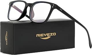 Blue Light Blocking Glasses for Men Women's Square Eyeglasses Unbreakable TR90 Frames with 100% Anti-Blue Light Lens