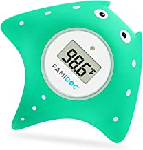 Baby Bath Thermometer with Room Thermometer – Famidoc FDTH-V0-22 NEW Upgraded..