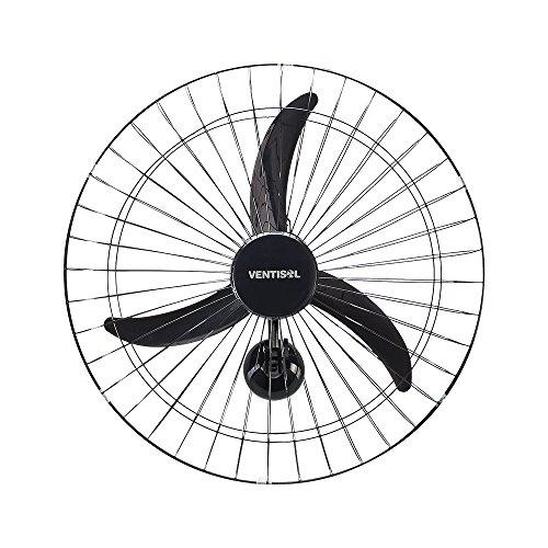 Ventilador de Parede Oscilante, 3 Pás Premium, Preto, 60cm, Bivolt, Ventisol