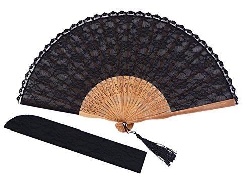 durable lace hand fan - 5