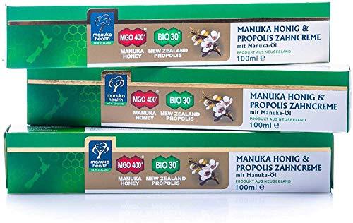Manuka Health Zahncreme mit MGO 400+ Honig und Manuka Öl, 3er Pack (3 x 100 ml)