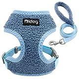 QIANNI Dog Leash Soft Pet Dog Harness and Leash Set Nylon Breathable Dog Harness Vest Lead Leash for Small Medium Large Dogs French Bulldog S-XL