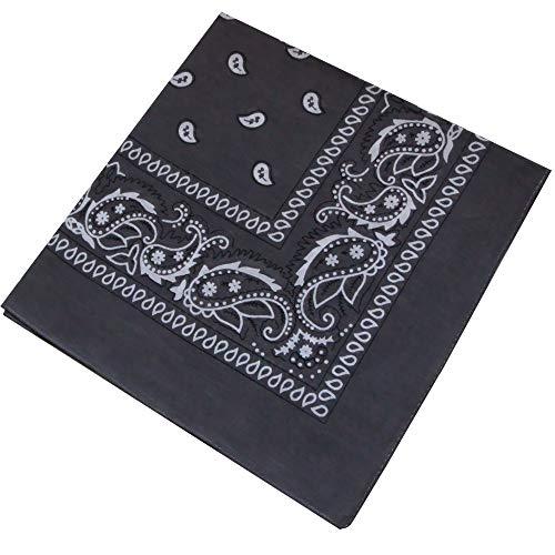 Ambielly bandane Classico Stampa Paisley bandane 100% cotone Avvolgere la testa Braccialetti sciarpe (006)