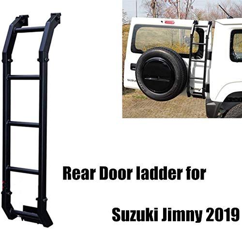 HYNB Legering achterklep achterdeur ladder koffer modificatie decoratie voor Suzuki Jimny JB64 JB74 2019 2020, auto styling accessoires, zwart