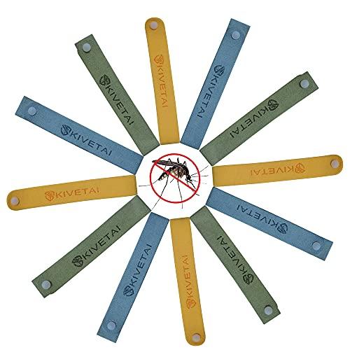 Muggenwerende armband, 12 stuks, anti-muggenarmbanden, insectenwerende banden, alle natuurlijke reisafstotende muggenbanden, waterdicht, niet giftig, veilig voor kinderen en volwassenen