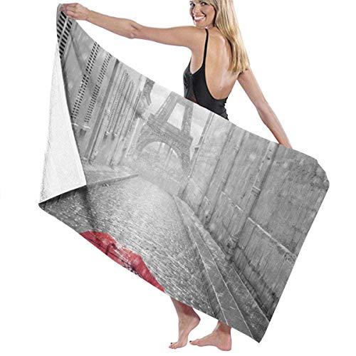 jhgfd7523 Toalla de playa de microfibra para adultos de Francia de la Torre Eiffel, de gran tamaño, de 76 x 158 cm, secado rápido, muy absorbente, multiusos, para mujeres, hombres y mujeres