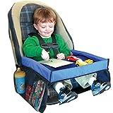 KKmoon Kindersitz Autositz Tablett Aufbewahrung Snack und Spielablage Multifunktional, sicher, wasserdicht, tragbar, ideal für Kinder