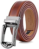 Marino Mens Genuine Leather Ratchet Dress Belt with Open Linxx Buckle...