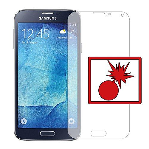 Slabo 2 x Panzerschutzfolie passend für Samsung Galaxy S5/S5 Neo Panzerfolie Bildschirmschutzfolie Schutzfolie Folie Shockproof KLAR - unsichtbar Made IN Germany