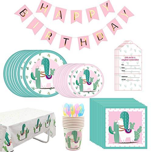 Fautly 30 St/ück Llama Kaktus H/ängedekorationen f/ür Babyparty Alpaka-Motto Geburtstag Party Supplies Home Swirl Deckendekoration