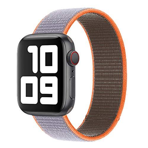 Correa de nailon para Apple Watch, pulsera deportiva con lazo para iWatch SE / 6/5/4/3/2/1/1-vitamina C, para 38 mm 40 mm