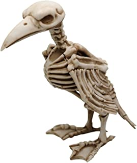 Comfy Hour 8' Polyresin Horrifying Halloween Standing Crow Skeleton Figurine, Antique Look, Old Aged Finish