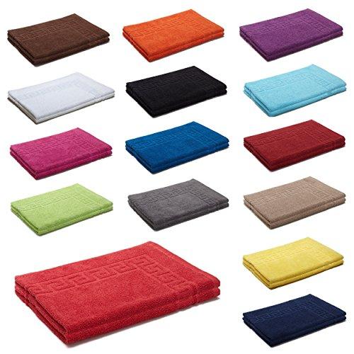 AR Line 2er Packung Duschvorleger Badvorleger Badematte 50 x 70 cm 100{0e08d7d600f67f9b0d712465bcb6fd464d80790efb986e0d929c729f236df28a} Baumwolle 700 g/m², Farbe: Weiß