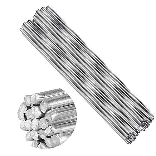 Panthem alambre de soldadura de aluminio, 50 piezas de 2 mm x 500 mm de baja temperatura Al soldadura Rod sin necesidad de polvo de soldadura para energía eléctrica, química