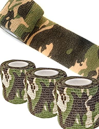 Outdoor Saxx® - Camouflage Tarn-Tape Tarnfleck, Gewebe-Band, Tarnung wasserfest mehrfach...