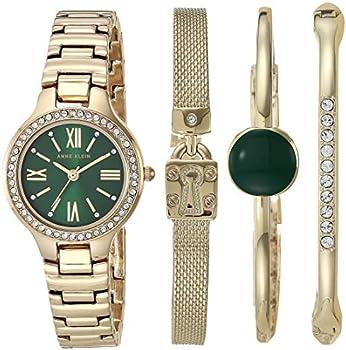 Anne Klein Women's Swarovski Crystal Accented Watch & Bracelet Set