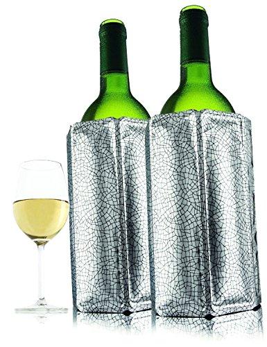 Vacu Vin Active Wine Cooler Silver, Set of 2