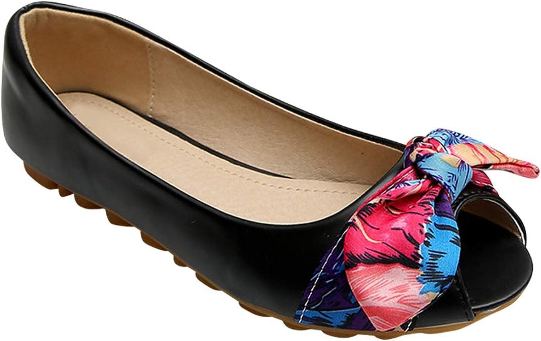 Yudesun Women Flats shoes - Pumps Work Sandals Open Toe Casual Ballet Bowknot Driver Slip On Moccasins Comfort Boat shoes
