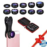Smartphone Camera Lens Kit-10 in 1 Cell Phone Camera Lens Kit Wide Angle