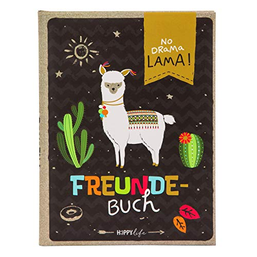 Freundebuch A5 Happylife Lama