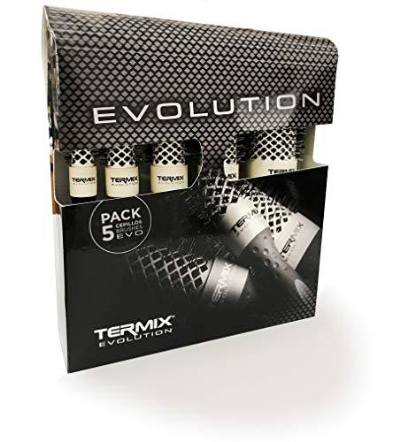 Termix Evolution Soft - Juego de Cepillos Térmicos (5 unidades) MLT-EVO5S (Soft)