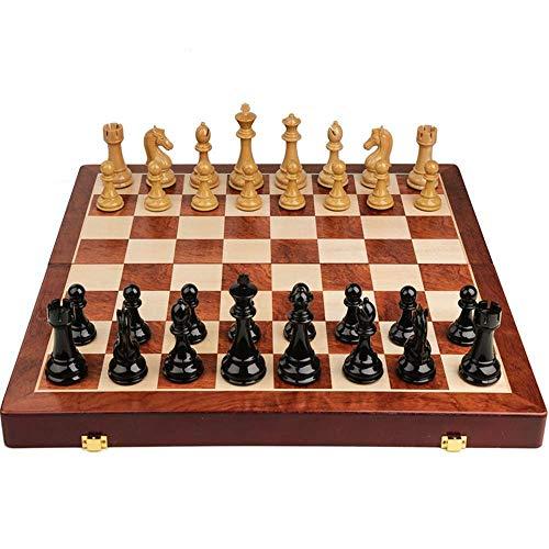 AJH Juego de ajedrez magnético Mejorado, Tablero de ajedrez de Viaje portátil Hecho a Mano, Juego de ajedrez para Principiantes para niños y Adultos, familiare