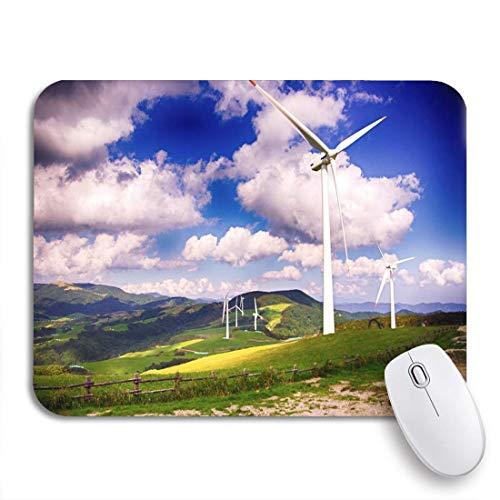 Alfombrilla de ratón para juegos molinos de viento para energía eléctrica en green hill farm alfombrilla de ratón antideslizante para computadora alfombrilla para portátiles alfombrillas para mouse