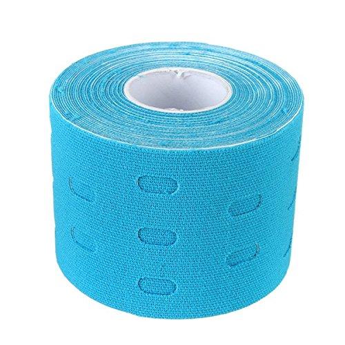 Tutoy 5M * 5Cm Kinesiología Cinta Deportes Músculos Cuidado Vendaje Terapéutico-Azul