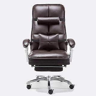 Chaise de jeu MHIBAX chaise delevage ergonomique, chaise d'ordinateur inclinable vraie vache chaise pivotante, chaise d...