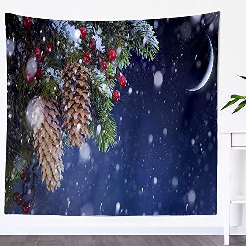 VLUNT Tapisserie Murale De Noël forêt Arbre Tapisserie Montagne Tenture Murale Psychédélique Nature Paysage Tapisserie Décoration De La Maison Pour Chambre Salon (9,S)