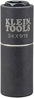 2-in-1 Impact Socket, 6-Point, 3/4-Inch and 9/16-Inch Klein Tools 66004
