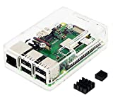 Raspberry Pi3 Model B+ ボード&ケースセット 3ple Decker対応-Physical Computing Lab (Clear)