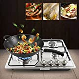 Kitchen Gas Cooktop 23'/34' Stainless Steel Burners, Built-in NG/LPG 4/5 Gas Cooktops with Gas Leakage Protection Sysrerm Fast Cooking Cooktop (5852cm)