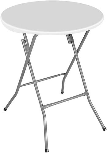 ZB Simple Ménage Table Ronde Pliante Restaurant Restaurant Table De Négociation en Plein Air Portable A+ (Couleur   A, Taille   61x74cm)