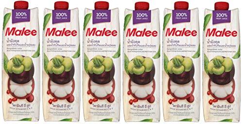 Malee ( マリー ) マンゴスチンミックスジュース 100% ( 1000ml 6本セット ) マンゴスチン 75% ざくろ 15% 赤ぶどう 10% ジュース
