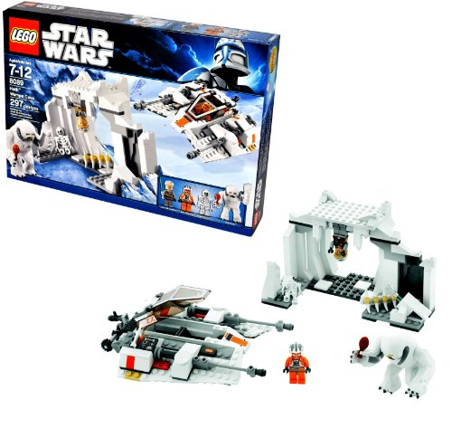 Lego Star Wars Movie Series 'The Empire Strikes Back' Battle Pack Set # 8089 - HOTH WAMPA CAVE with Snowspeeder, Luke Skywalker, Zev Senesca, Skeleton and Wampa Minifigures (Total Pieces: 297)