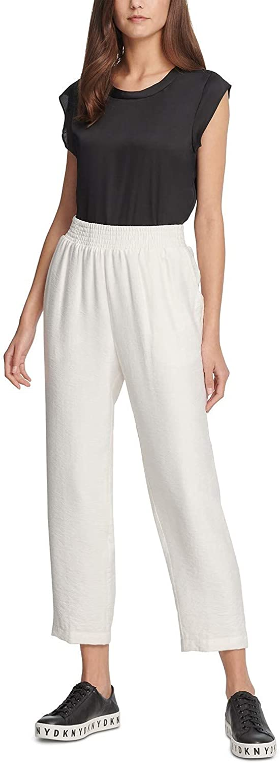 DKNY Women's Pull-On Cropped Pants