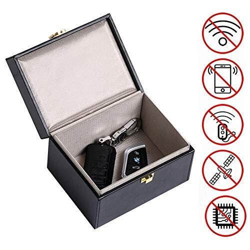 Faraday Box Auto-Signalblocker, Anruf- und RFID-Signalblocker Keyless Anti Theft Faraday Cage, Fahrzeugsicherheit Faraday Key Fob Protector Blocker, Faraday Key Pouch Bag Inhaber Faraday Case