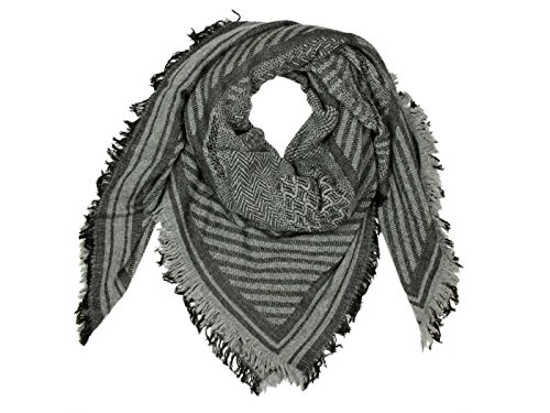 LOEVENICH Triangelschal Schal - Grau (grau) - One Size