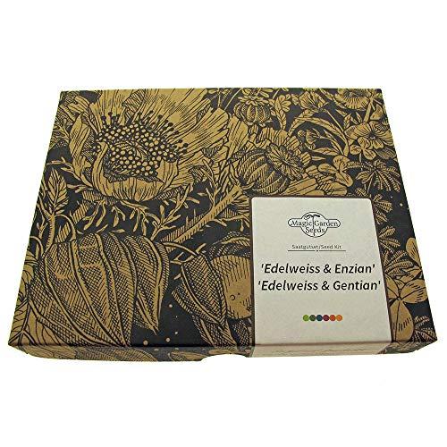 Edelweiss & genciana - set de semillas regalo con las dos flores alpinas probablemente más famosas