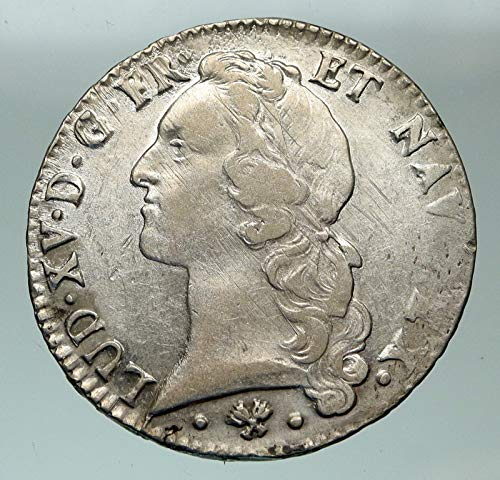 1767 FR 1767 L FRANCE King LOUIS XV Headband Antique OLD coin Good Uncertified