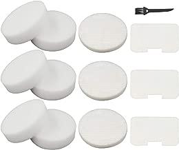 6 Foam + 3 Felt Circular & Exhaust Filters Kit Replacement for Shark Navigator Swivel Upright Vacuum NV22, NV22L, NV22S, NV26, NV27, UV400 Part # XF22