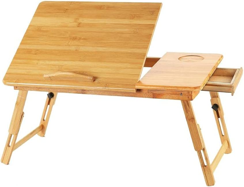 LVLONG Upgrade Bed Limited time trial price Tray with Drawer Lazy Foldable A Height Soldering Table