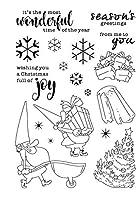 DIYスクラップブッキング/カード作りの楽しい装飾用品ST0192用の新年サンタクロース透明クリアスタンプ